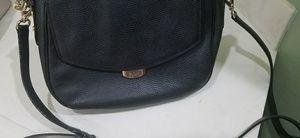 Kate Spade Black Pebbled Flap Crossbody Bag